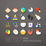 Link toBaby products icon vector