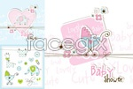 Link toBaby theme element cards vector