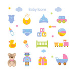 Link toBaby toys icons vector