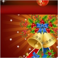Link toBackground and christmas tree decorations vector