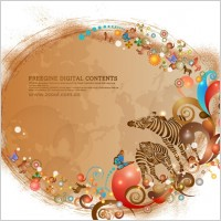 Link toBackground and colorful zebra pattern vector