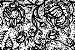 Link toBackground black lace pattern vector
