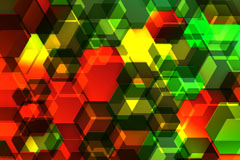 Background bright hexagon design vector