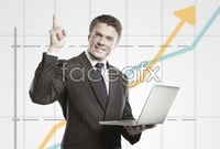 Link toBackground business man who is a rising curve hd pictures