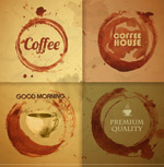 Link toBackground coffee stains vector