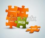 Link toBackground color puzzle vector