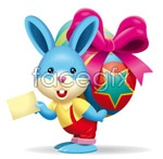 Link toBackground egg hare vector