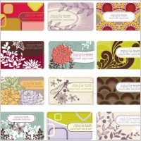 Link toBackground elegant flower pattern cards 01 vector