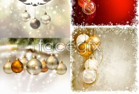 Link toBackground of beautiful christmas ornaments