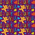 Link toBackground of love and the gingerbread man vector