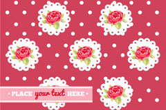 Link toBackground of the roses and lace vector
