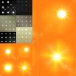 Link toBackground of the stars and the sun vector