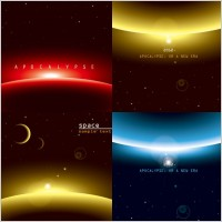 Link toBackground of three brilliant dynamic effects vector