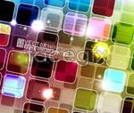 Link toBackground of translucent color spots vector