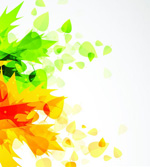 Link toBackground of yellow-green leaves vector