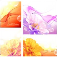 Link toBackground with flowers vector dream