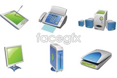 Backicon electric appliances and office equipment-vector icons