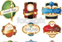 Badge bottle labels
