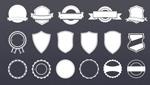 Link toBadge stickers label templates vector