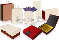Link toBag packing box rendering vector