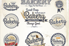 Link toBaked goods tags design vector