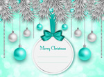Link toBall pine christmas cards vector