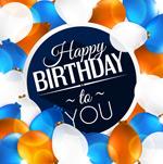 Link toBalloon birthday theme vector
