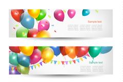 Link toBalloon decoration fireworks banner vector