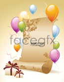 Link toBalloon gift paper vector