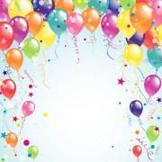 Link toBalloon ribbon happy birthday background 03 free