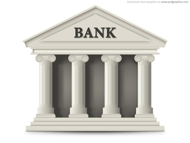 Link toBank building icon (psd)