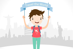 Link toBanner travel boy vector