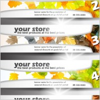 Link toBanners of various themes 01 vector