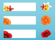 Banners with flowers vector free