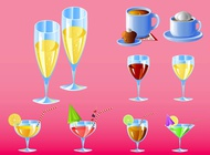 Link toBar drinks vector free