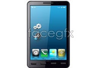 Link toBar touch screen smart phone vector