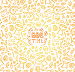 Link toBarbecue elements seamless background vector