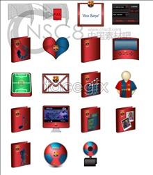 Barcelona team topic icons