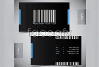 Link toBarcode background business card template vector