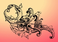 Link toBaroque flower vector free