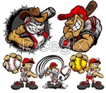Link toBaseball cartoon character vector