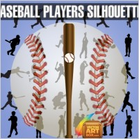 Link toBaseball players silhouettes