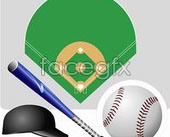 Link toBaseball related tools vector