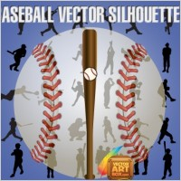 Link toBaseball vector silhouettes