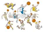 Link toBasketball cartoon character vector