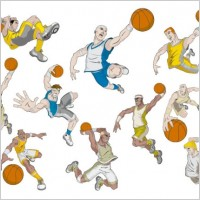 Link toBasketball cartoon characters vector