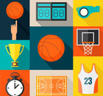 Link toBasketball element icons vector
