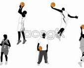 Link toBasketball layup, sports, shooting motion vector