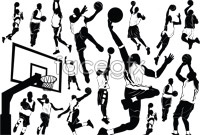 Link toBasketball player silhouette vector artwork s