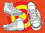 Link toBasketball shoes vector free